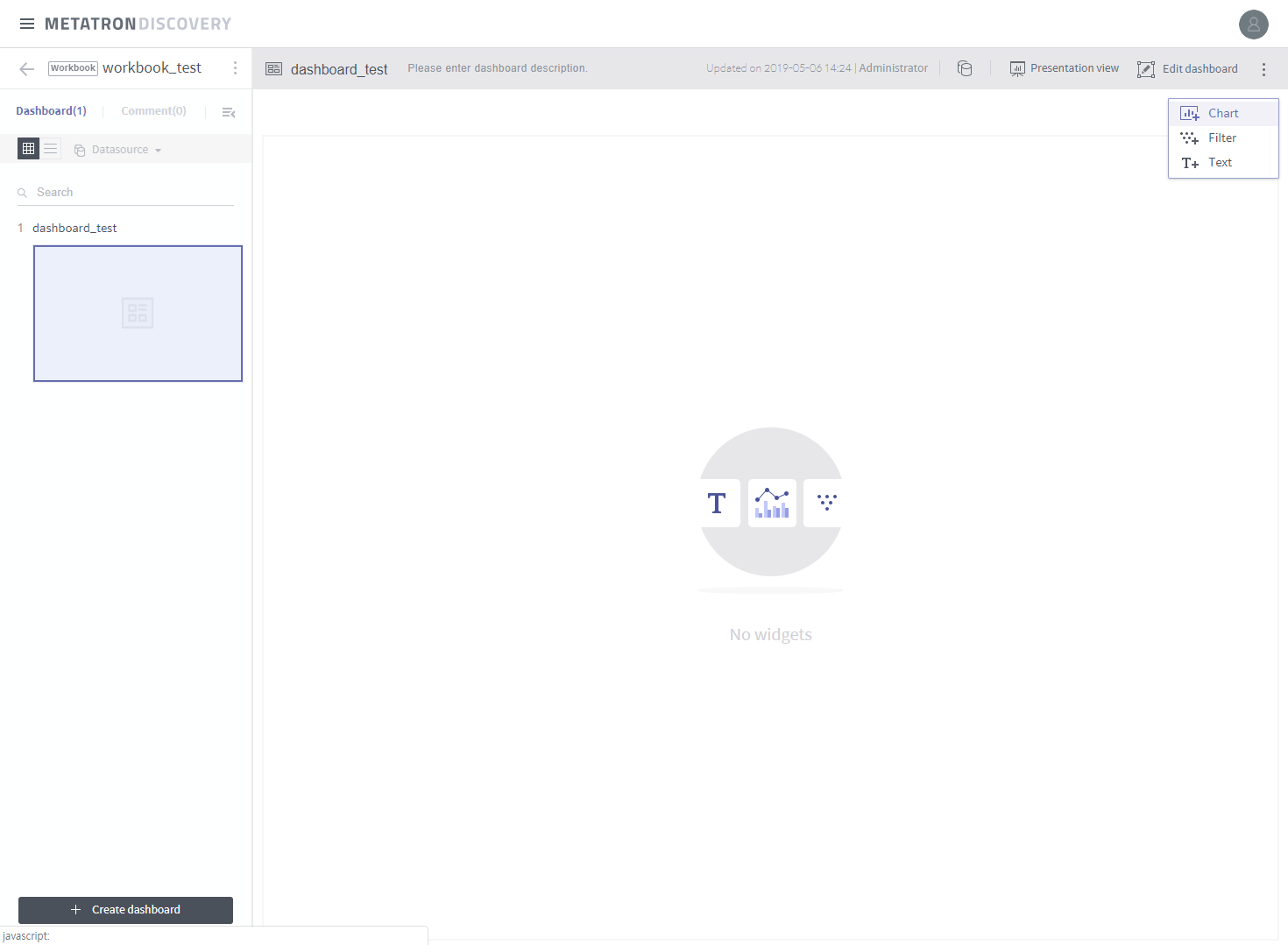 Step 3. Organize a dashboard — metatron discovery docs 0.4.3 ...